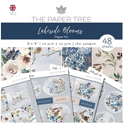 The Paper Tree - Lakeside Blooms Collection - 8x8 paper Kit