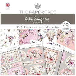 The Paper Tree - Boho Bouquets Collection - 8x8 paper Kit