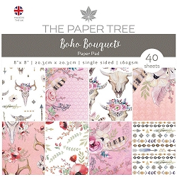 The Paper Tree - Boho Bouquets Collection - 8x8 Decorative paper pad