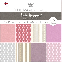 The Paper Tree - Boho Bouquets Collection - 8x8 Essentials paper pad