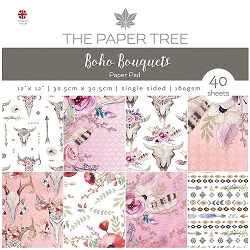 The Paper Tree - Boho Bouquets Collection - 12x12 decorative paper pad