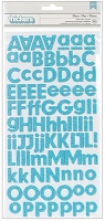 American Crafts/Pebbles Basic Collection - Foam Letter Alpha Thickers - Powder Blue Glitter