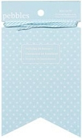 Pebbles - Basics Collection - Banner Kit - Pennant Powder