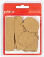 Pebbles - Seen & Noted Collection - Chipboard Blank Word Bubbles