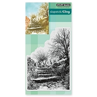 Penny Black - Slapstick Cling Stamp - Terraced Lane