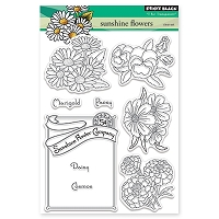 Penny Black - Clear Stamp - Sunshine Flowers