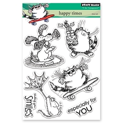 Penny Black - Clear Stamp - Happy Times