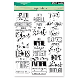 Penny Black - Clear Stamp - Hope Shines