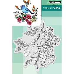 Penny Black - Slapstick Cling Stamp - Flower Perch