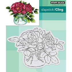 Penny Black - Slapstick Cling Stamp - Rose Bowl