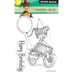 Penny Black - Clear Stamp - Birthday Wheels