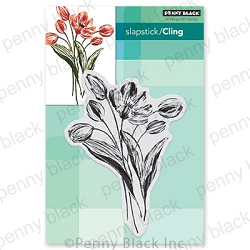 Penny Black - Slapstick Cling Stamp - Blooming Tulips