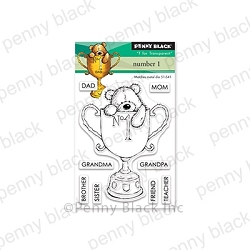 Penny Black - Clear Stamp - Number 1