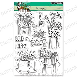 Penny Black - Clear Stamp - Be Happy