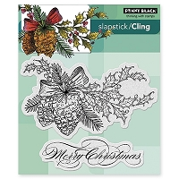Penny Black - Slapsticks - Cling Stamp - Winter Pine