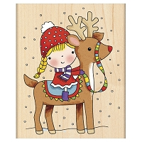 Penny Black - Wood mounted rubber stamp - Reindeer Games