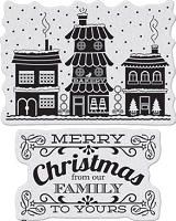 Penny Black - Slapsticks - Cling Stamp - Winter Village