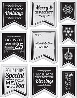 Penny Black - Slapsticks - Cling Stamp - Christmas Banners