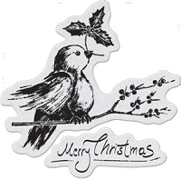 Penny Black - Slapsticks - Cling Stamp - Robin's Wish