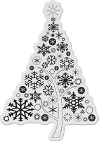 Penny Black - Slapsticks - Cling Stamp - Snowlight