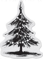 Penny Black - Slapsticks - Cling Stamp - Tannenbaum