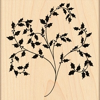 Penny Black - Wood Mounted Stamp - Flourish Holly
