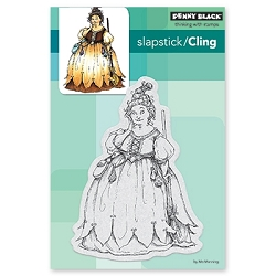 Penny Black - Slapstick Cling Stamp - Chubby Witch