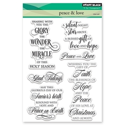 Penny Black - Clear Stamp - Peace & Love