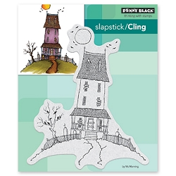Penny Black - Slapstick Cling Stamp - House of Crows