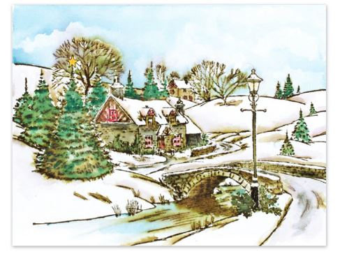 Penny Black Winter Village Slapstick//Cling Stamps