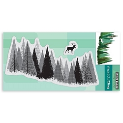Penny Black - Slapstick Cling Stamp - Pine Forest