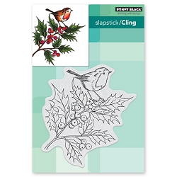 Penny Black - Slapstick Cling Stamp - Cheerful Christmas