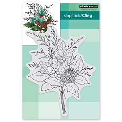 Penny Black - Slapstick Cling Stamp - Christmas Arrangement