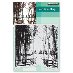Penny Black - Slapstick Cling Stamp - Snow Trails