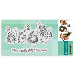 Penny Black - Slapstick Cling Stamp - Holly Jolly Critters
