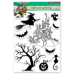 Penny Black - Clear Stamp - Halloween Gathering