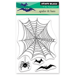 Penny Black - Clear Stamp - Spiders & Bats