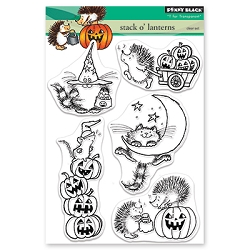 Penny Black - Clear Stamp - Stack o' Lanterns