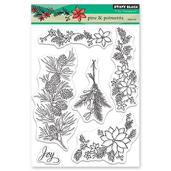 Penny Black - Clear Stamp - Pine & Poinsettia