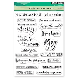 Penny Black - Clear Stamp - Christmas Sentiments