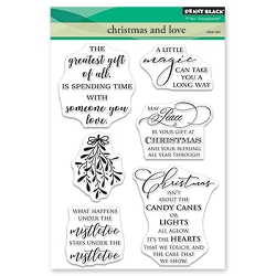 Penny Black - Clear Stamp - Christmas and Love