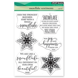 Penny Black - Clear Stamp - Snowflake Sentiments