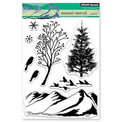Penny Black - Clear Stamp - Season's Marvel
