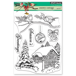 Penny Black - Clear Stamp - Snowy Cottage