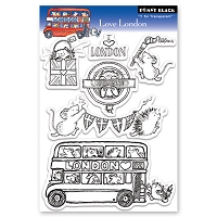 Penny Black - Clear Stamp - Love London