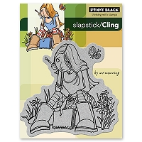 Penny Black - Slapsticks - Cling Stamp - With Journal