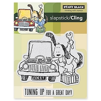 Penny Black - Slapstick Cling Stamp - Tune Up