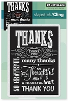 Penny Black - Slapsticks - Cling Stamp - Chalkboard Grateful