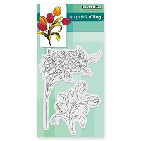 Penny Black - Slapstick Cling Stamp - Flower Gala