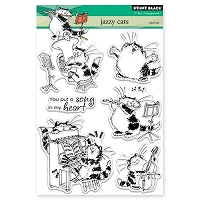 Penny Black - Clear Stamp - Jazzy Cats